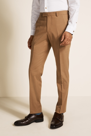 Moss London Slim Fit Camel Trousers