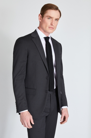 Moss 1851 Regular Fit Charcoal Stretch Jacket