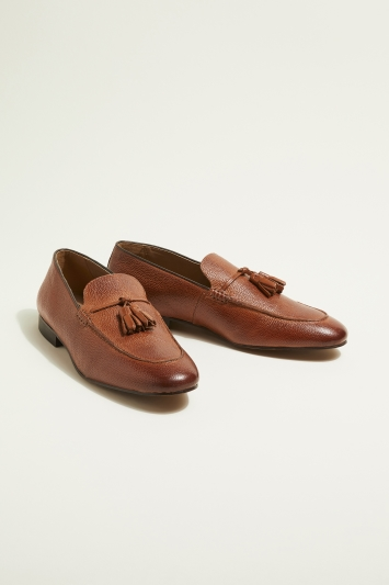 H by Hudson Cato Tan Tassel Loafer