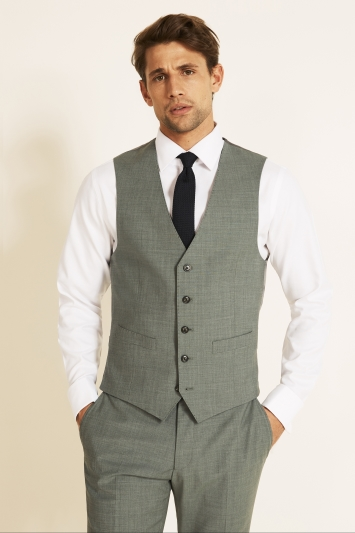 Moss 1851 Performance Tailored Fit Light Green Waistcoat