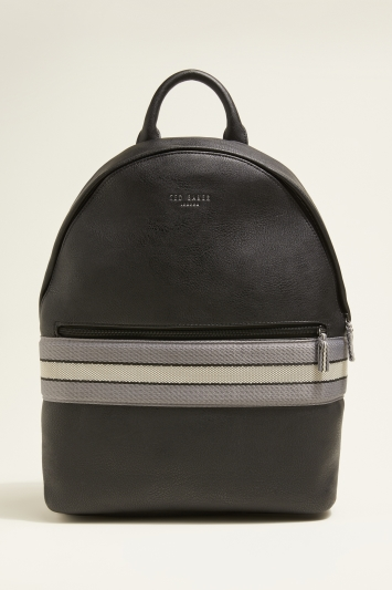 Ted Baker Agro Black Webbing Backpack