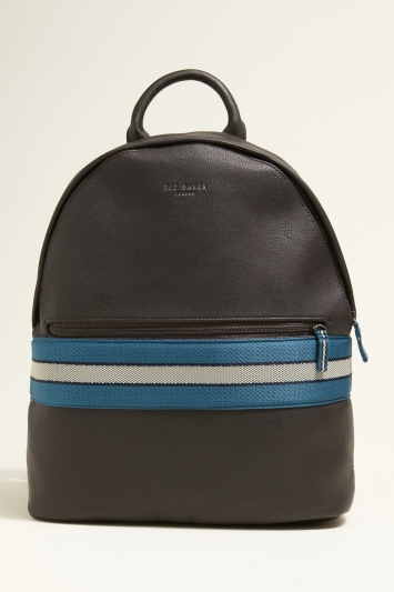 Ted Baker Agro Chocolate Webbing Backpack