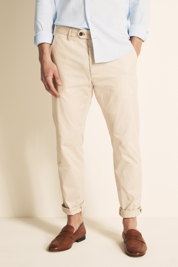 Moss 1851 Tailored Fit Eco Ecru Light Weight Stretch Chino