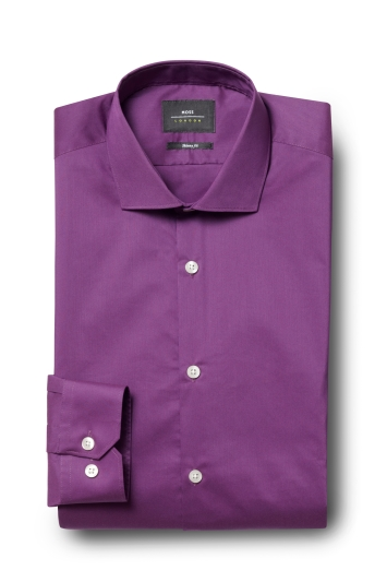 Moss London Skinny Fit Purple Single Cuff Stretch Shirt