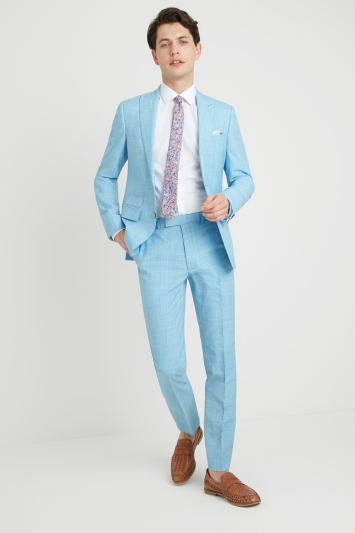 French Connection Slim Fit Light Blue Jacket