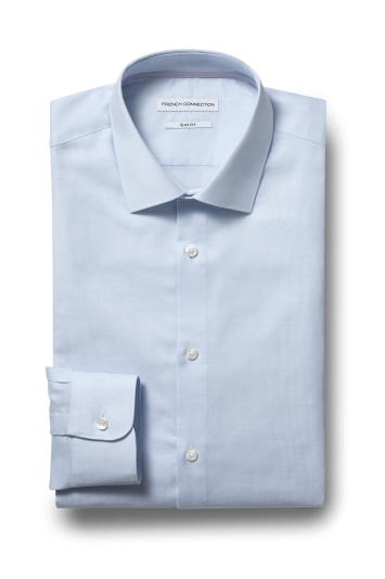 French Connection Slim Fit Sky Single Cuff Oxford Shirt