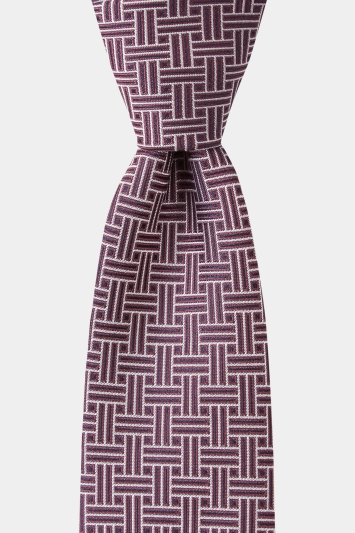 DKNY Purple Retro Geometric Tie