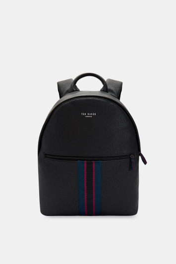 Ted Baker Standin Black Webbing Backpack