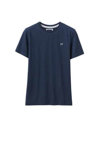 Crew Clothing Navy Round Neck Tee