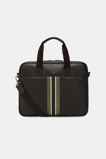 Ted Baker Tinee Chocolate Webbing Document Bag