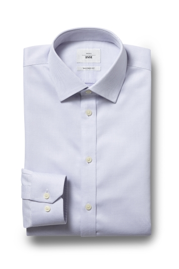 Moss 1851 Tailored Fit Lilac Single Cuff Dobby Spot Zero Iron Shirt