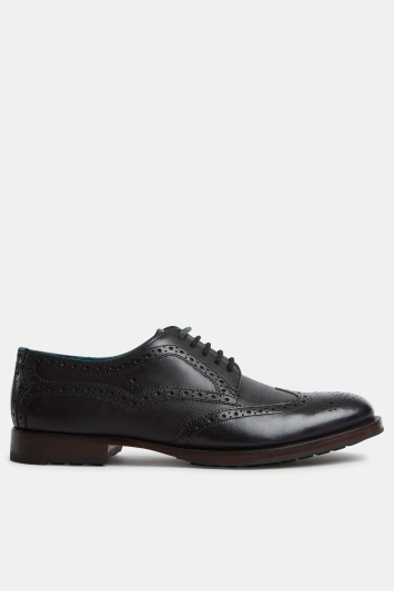 Ted Baker Senape Black Brogue Derby Shoe