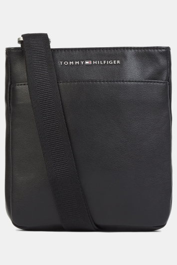 Tommy Hilfiger Black City Mini Flat Crossover Bag