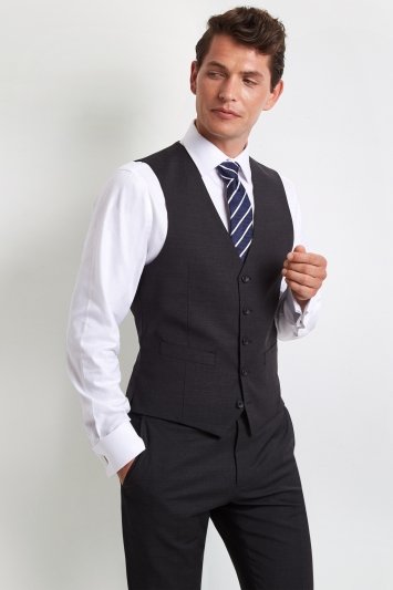 Moss 1851 Performance Tailored Fit Charcoal Waistcoat