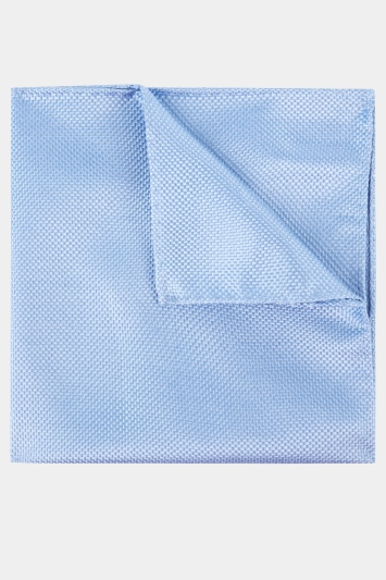 Moss Esq. Sky Textured Natte Pocket Square