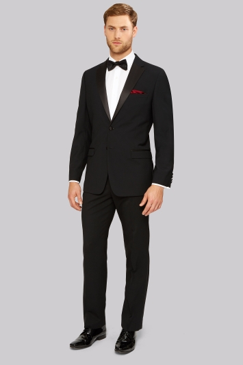 Moss Esq. Regular Fit Black Notch Tuxedo Jacket