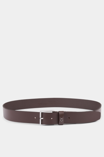 Calvin Klein Dark Brown Plaque Formal Belt