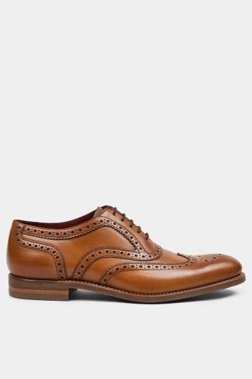Loake Kerridge Tan Leather Wingtip Oxford Shoe