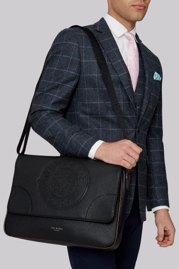 Ted Baker Black Embossed Dispatch Bag