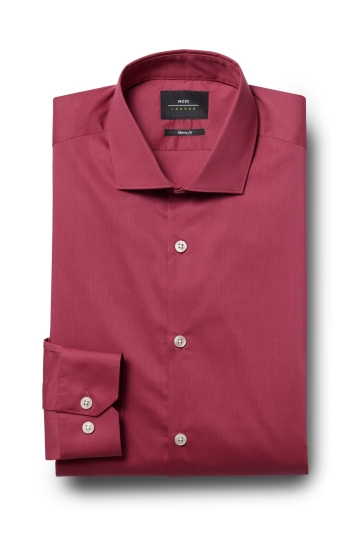 Moss London Skinny Fit Raspberry Single Cuff Stretch Shirt