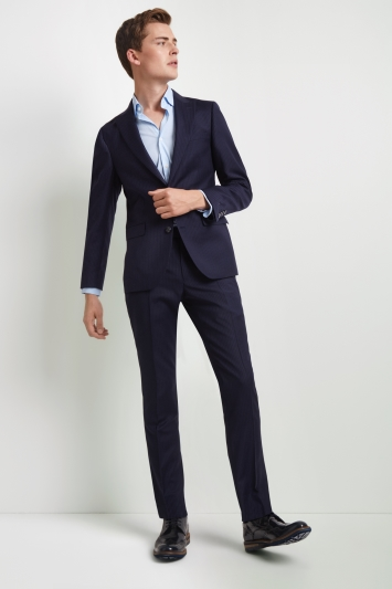 DKNY Slim Fit Blue Stripe Jacket