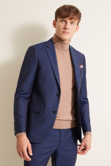 Moss 1851 Oatmeal Merino Roll-Neck Jumper