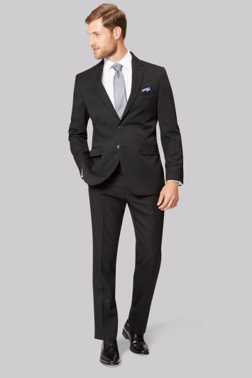 Moss Esq. Regular Fit Black Notch Lapel Suit Jacket