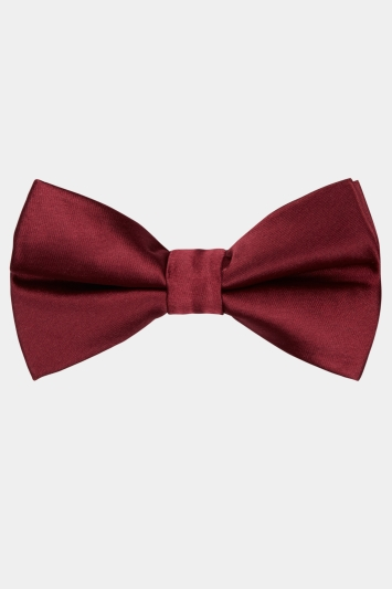 Moss London Wine Skinny Bow Tie