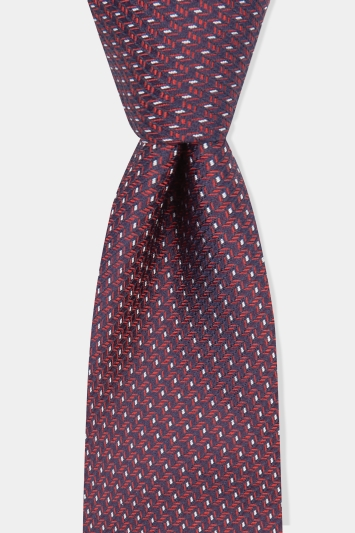 Hugo by Hugo Boss Pink Jacquard Silk Tie