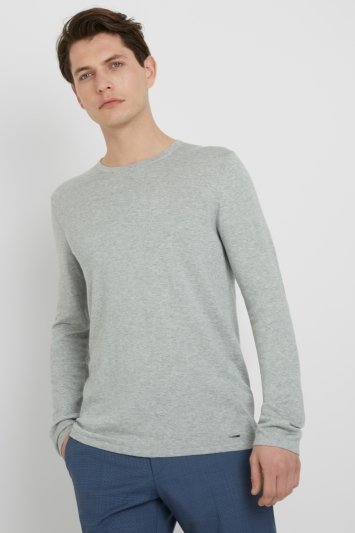 HUGO by Hugo Boss Tailored Fit Neutral Crew Knit