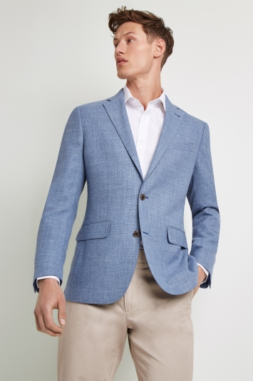 Ermenegildo Zegna Cloth Tailored Fit Sky Open Weave Jacket