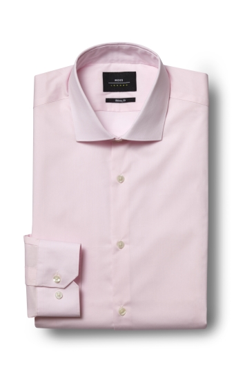 Moss London Skinny Fit Pink Single Cuff Stretch Shirt