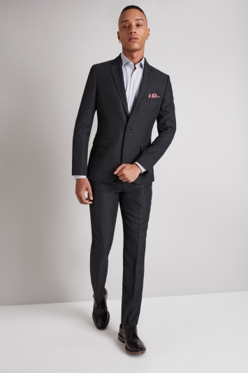 Moss London Skinny Fit Charcoal Jacket