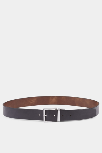 Calvin Klein Black/Brown Reversible 3.5cm Formal Belt