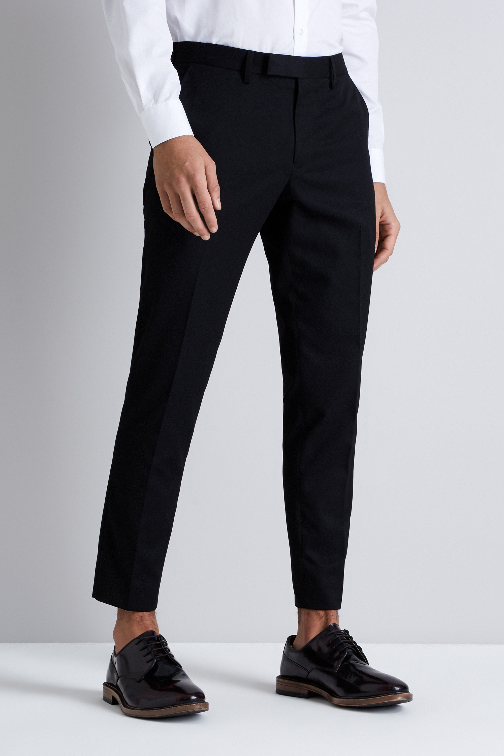 Moss London Skinny Fit Black Cropped Pants