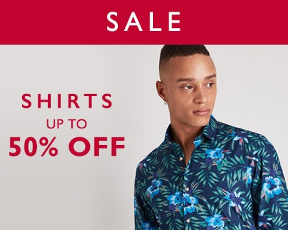 50% Off shirts sale
