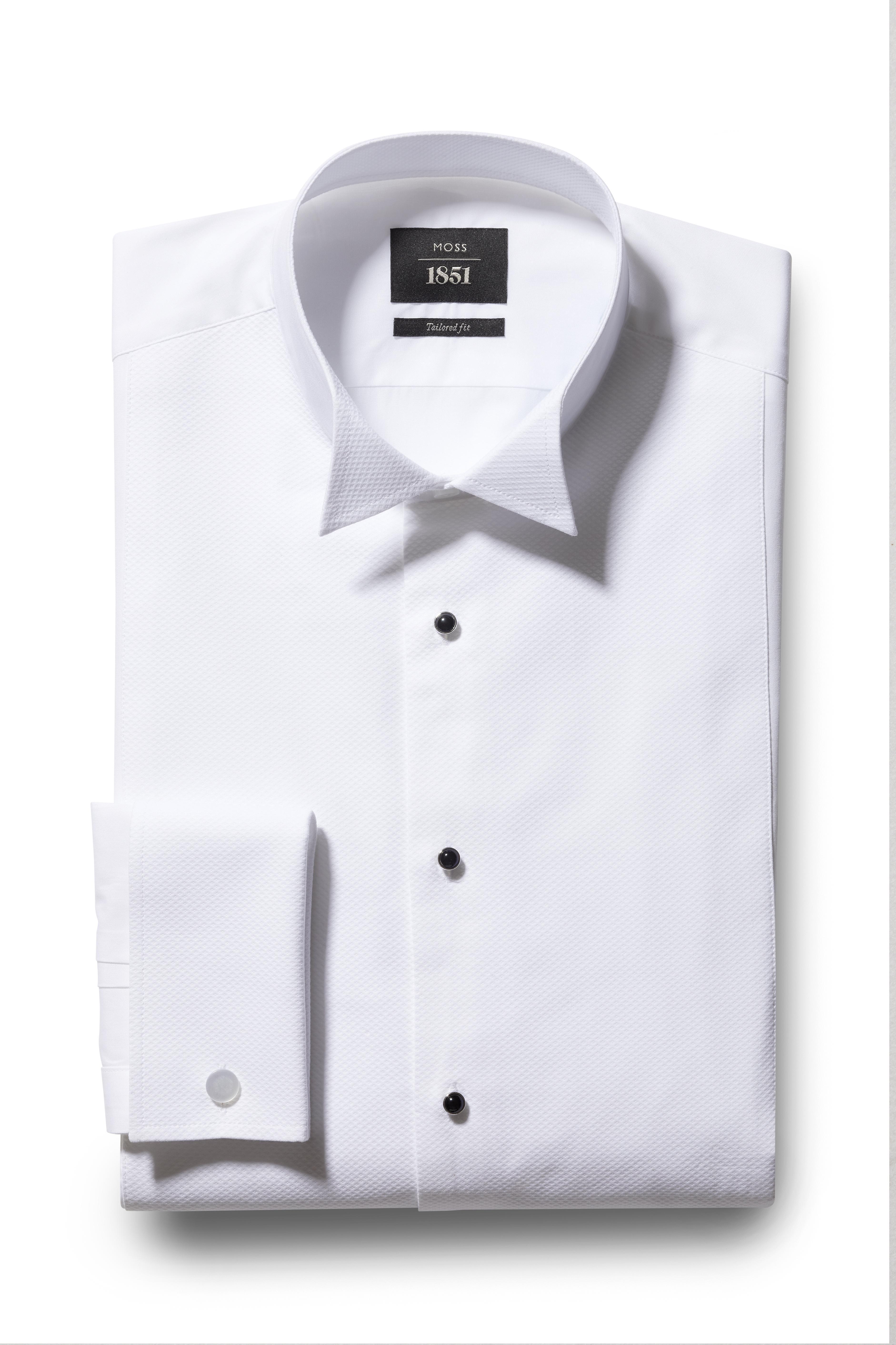 Moss 1851 Slim Fit Marcella Wing Collar Dress Shirt