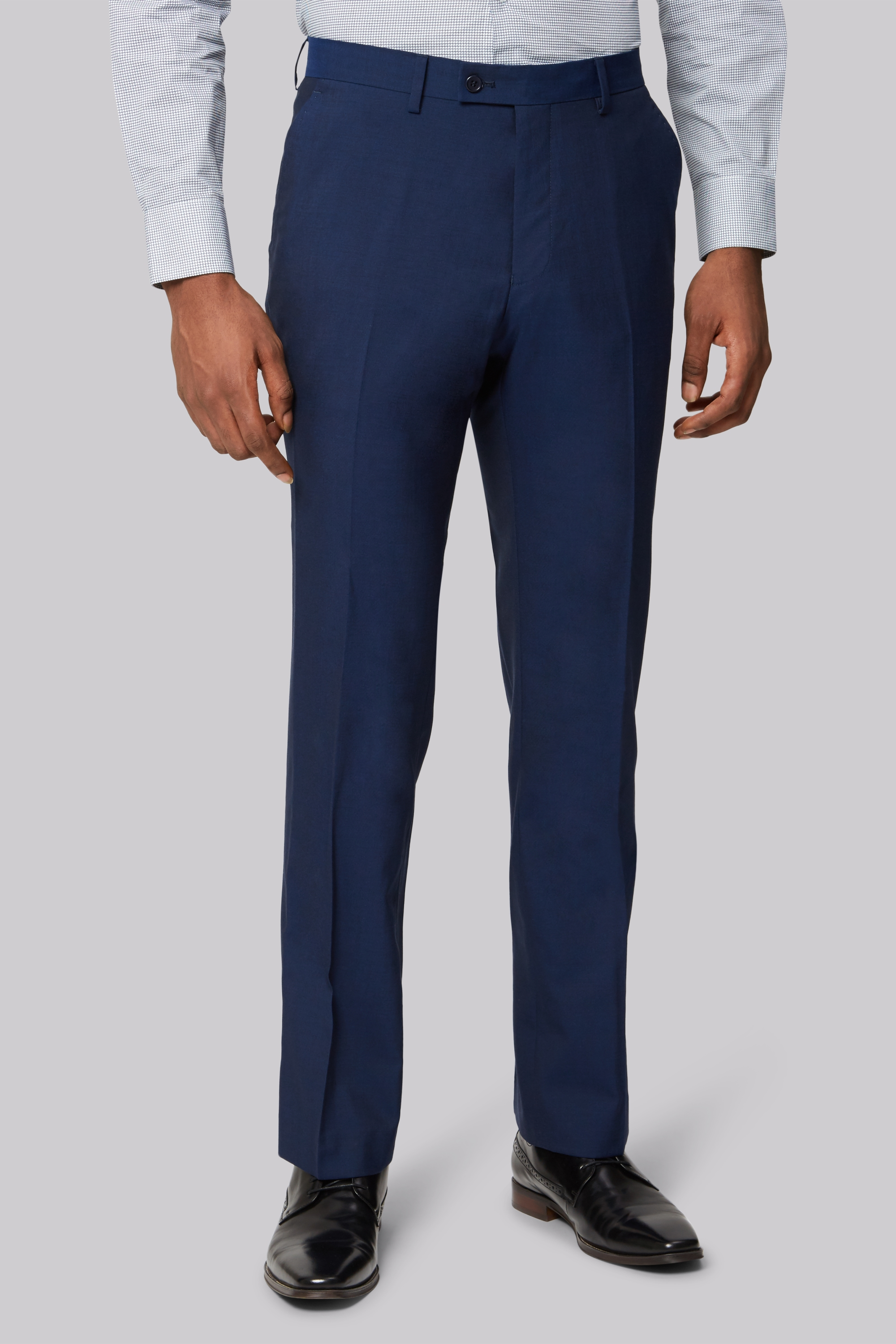 Fit Ted Blue Tailored Trousers Baker