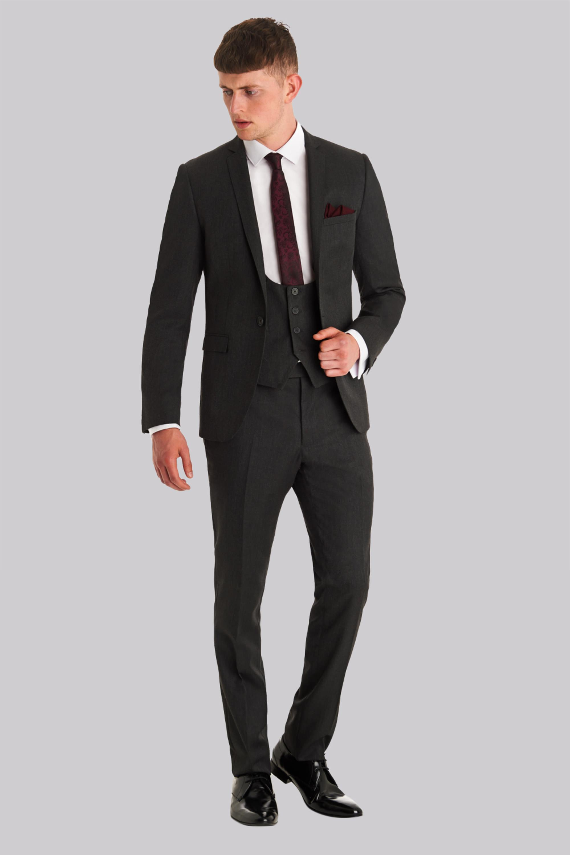 London Slim Fit Charcoal Jacket
