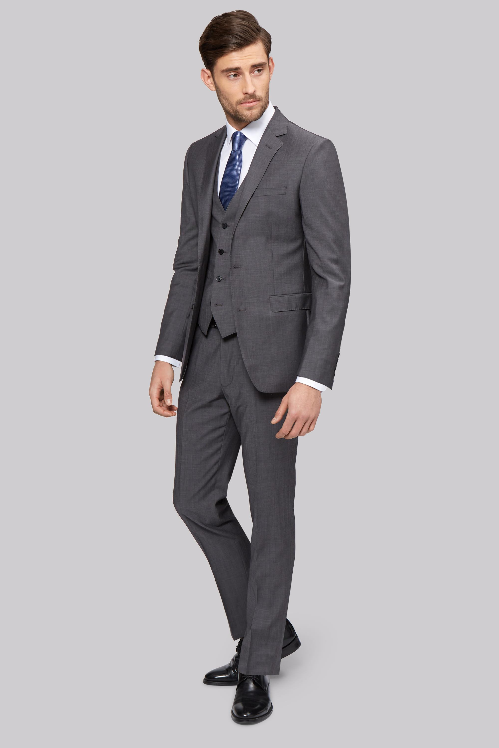 1851 Tailored Fit Grey Tonic Jacket