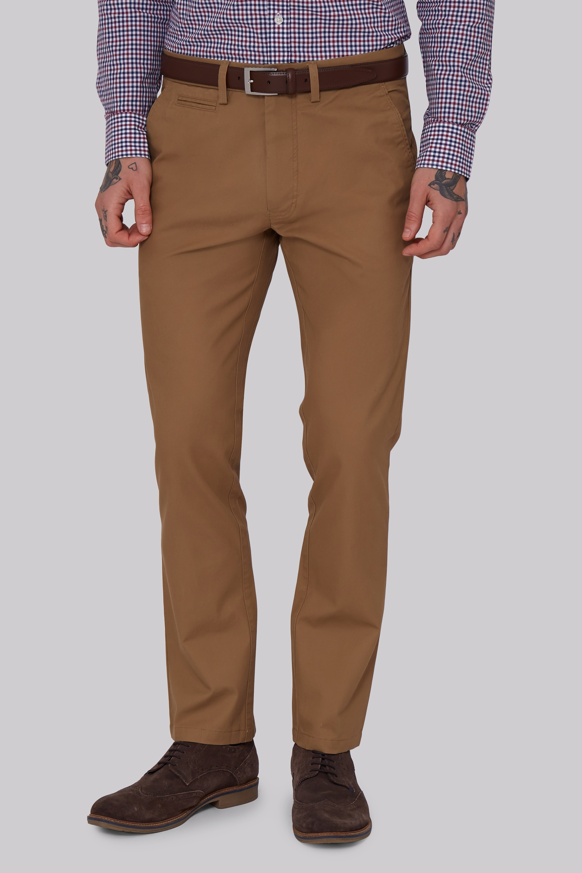 Moss 1851 Tailored Fit Tobacco Chino