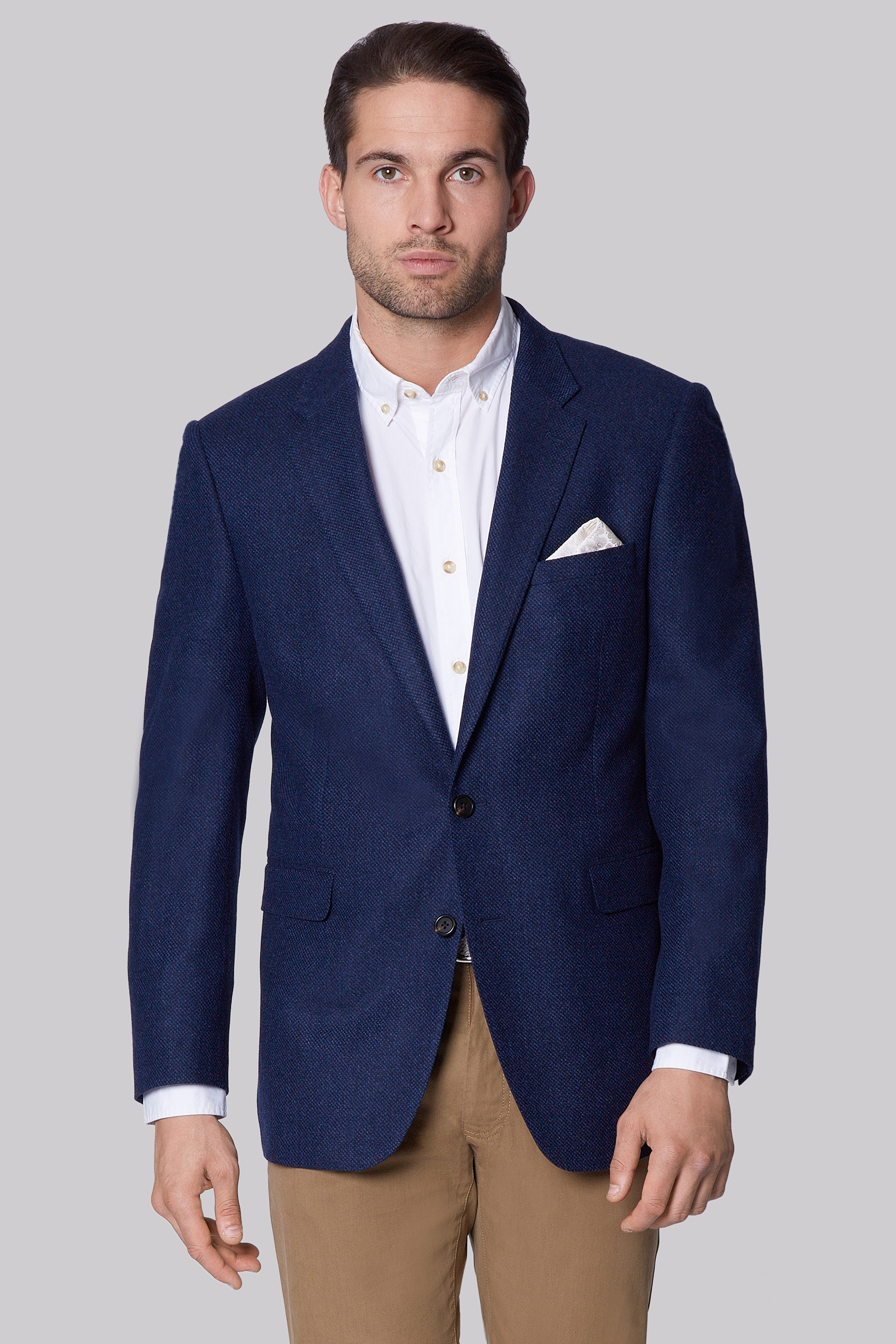 Ermenegildo Zegna Cloth Indigo Regular Fit Semi Plain Jacket