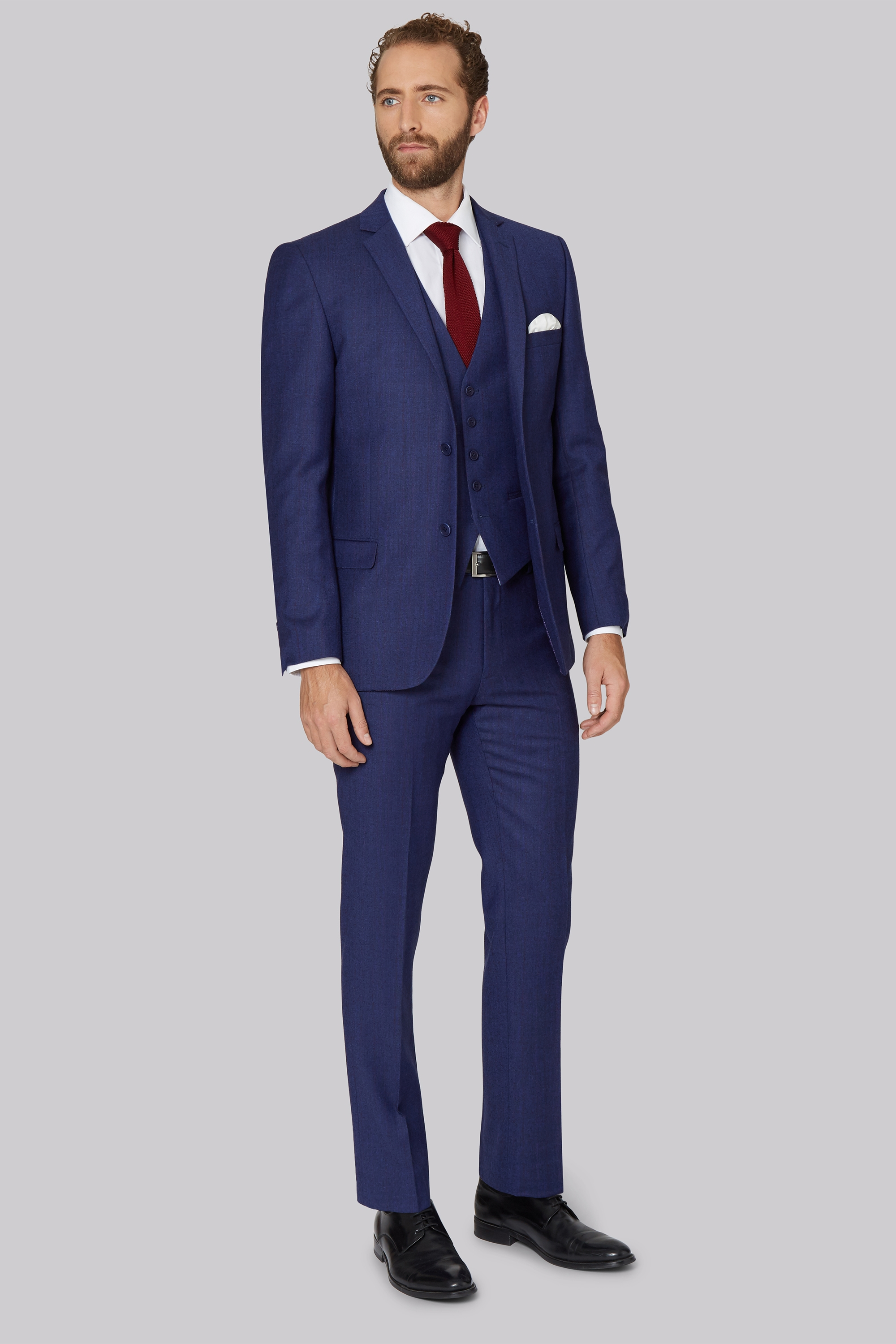 39ba1377d5b06 Ted Baker Tailored Fit Blue with Violet Check Suit Jacket