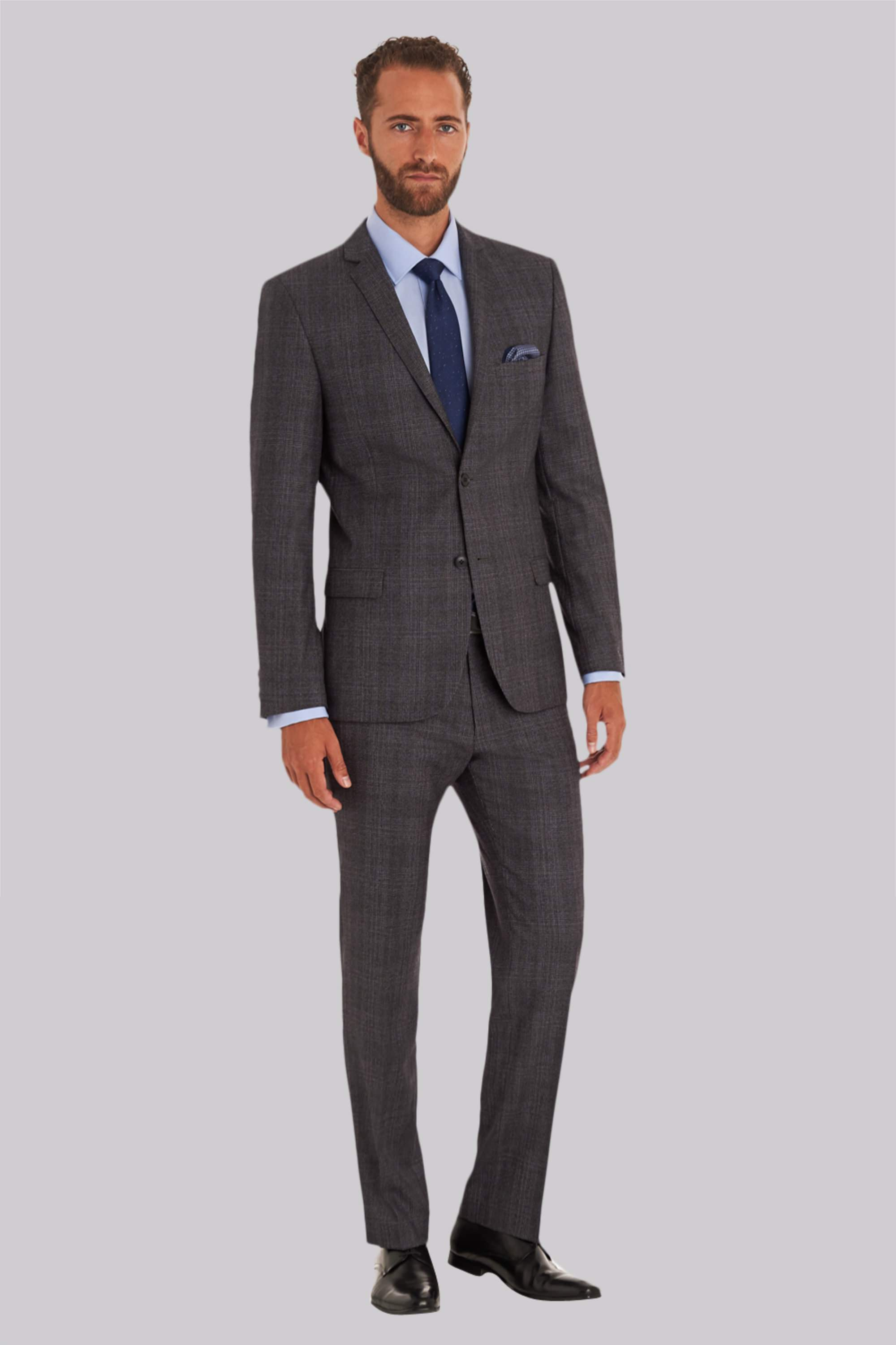 Baker Tailored Fit Grey Check Jacket
