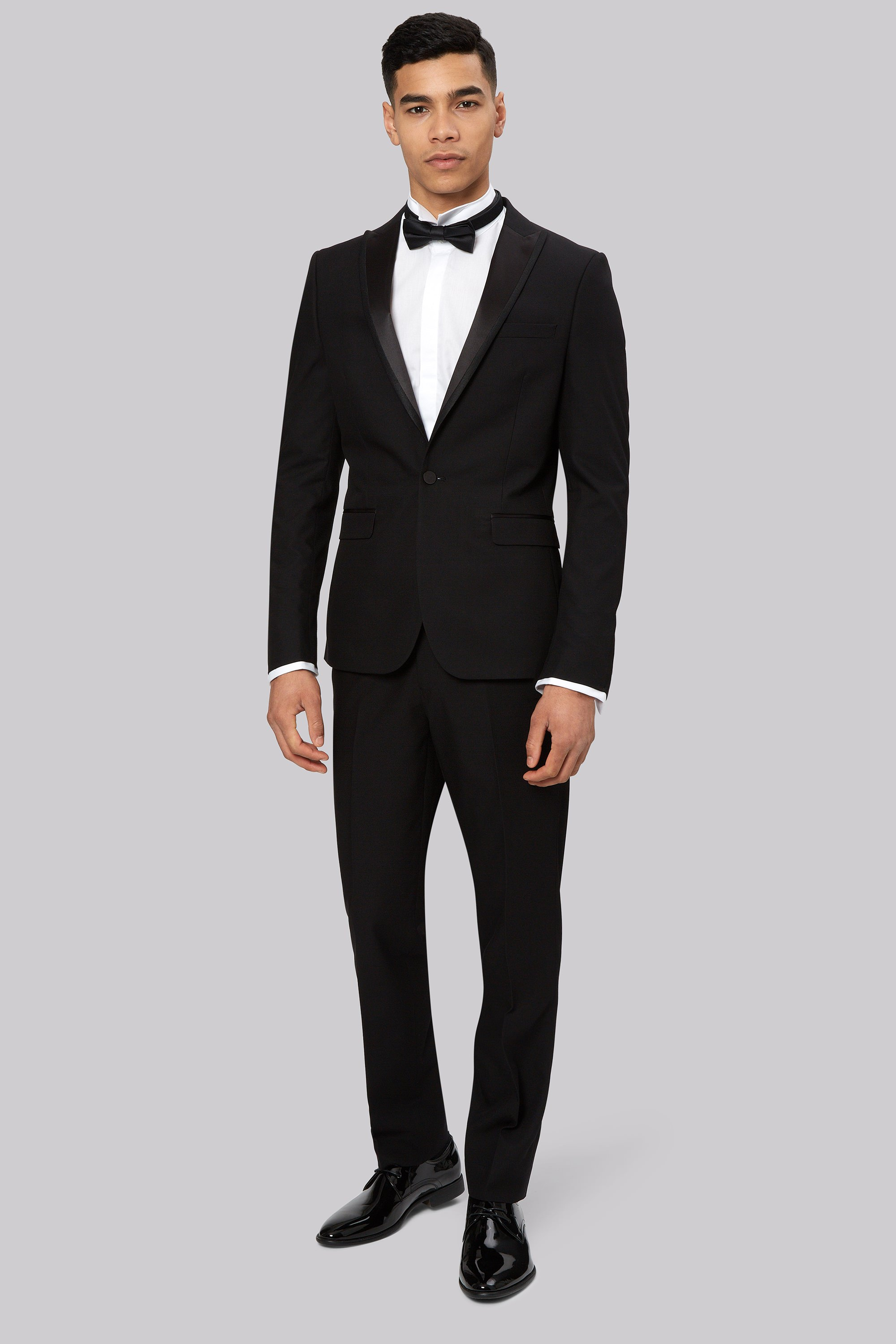 London Skinny Fit Black Tuxedo Jacket