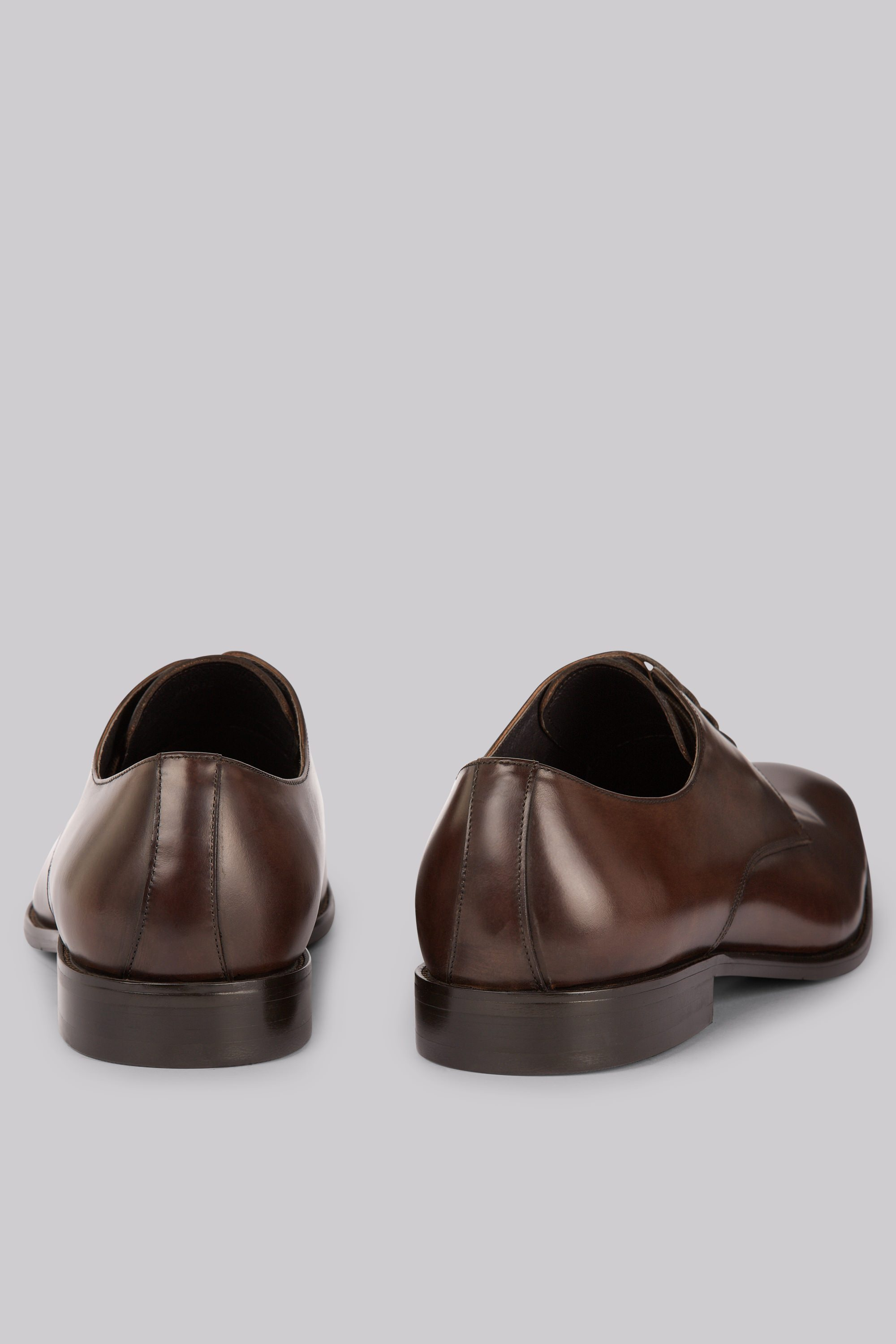 John White Moore Brown Derby Shoes