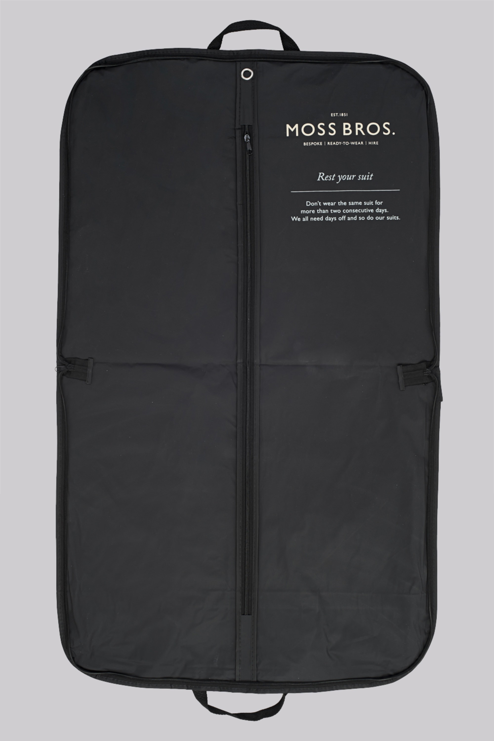 0024f4d89a0 Moss 1851 Black Suit Carrier