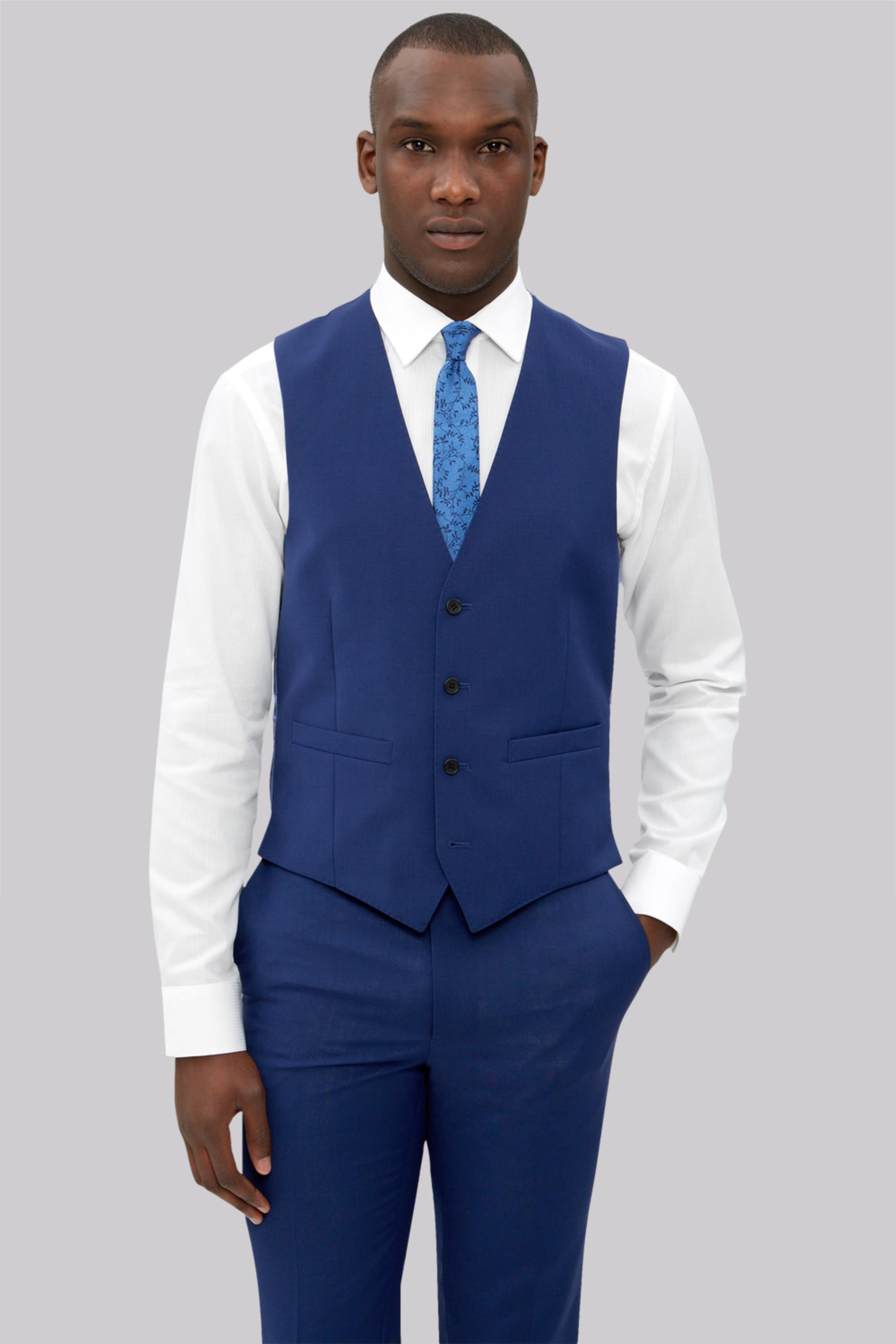 Connection Slim Fit Bright Blue Jacket