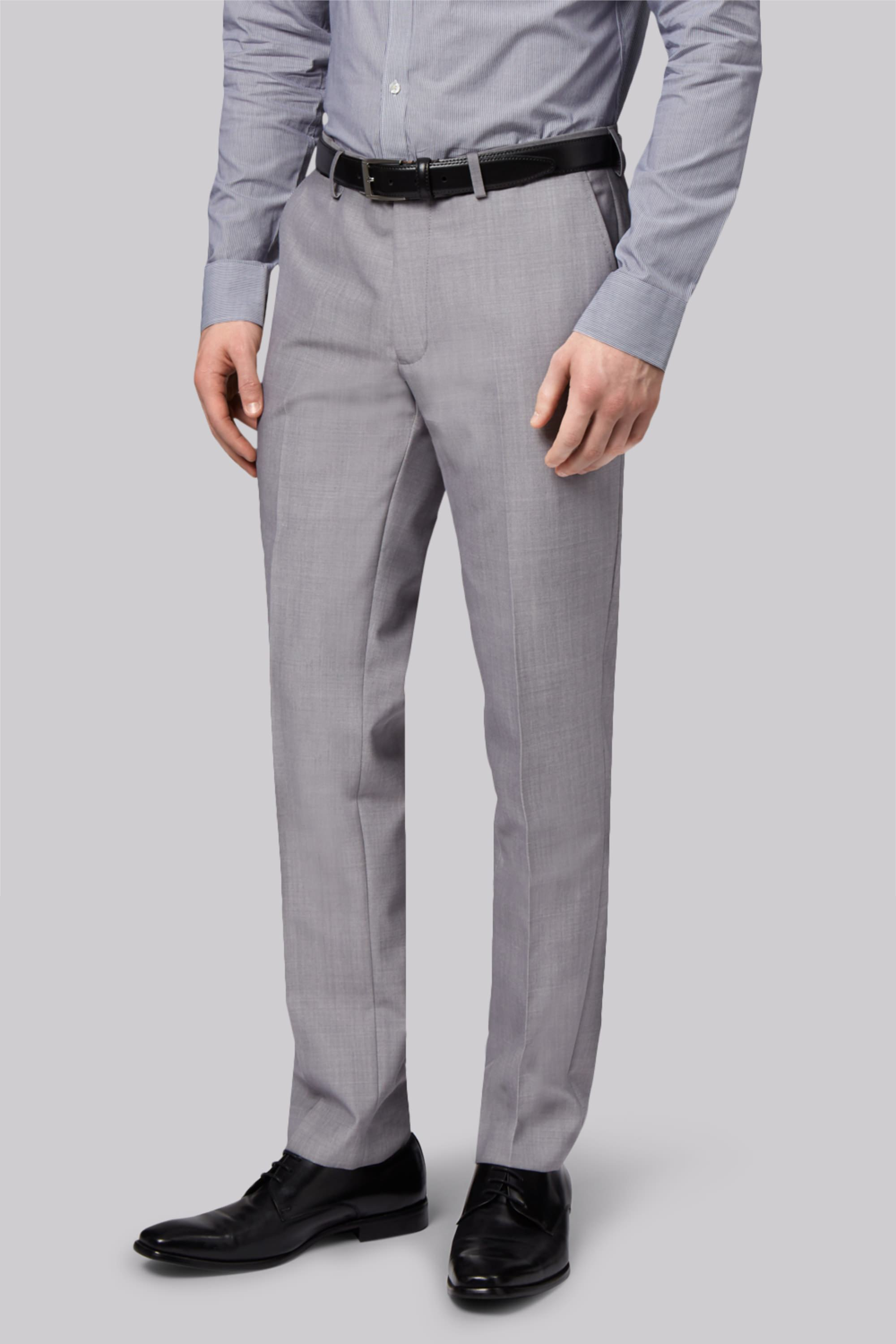 London Skinny Fit Light Grey Trousers