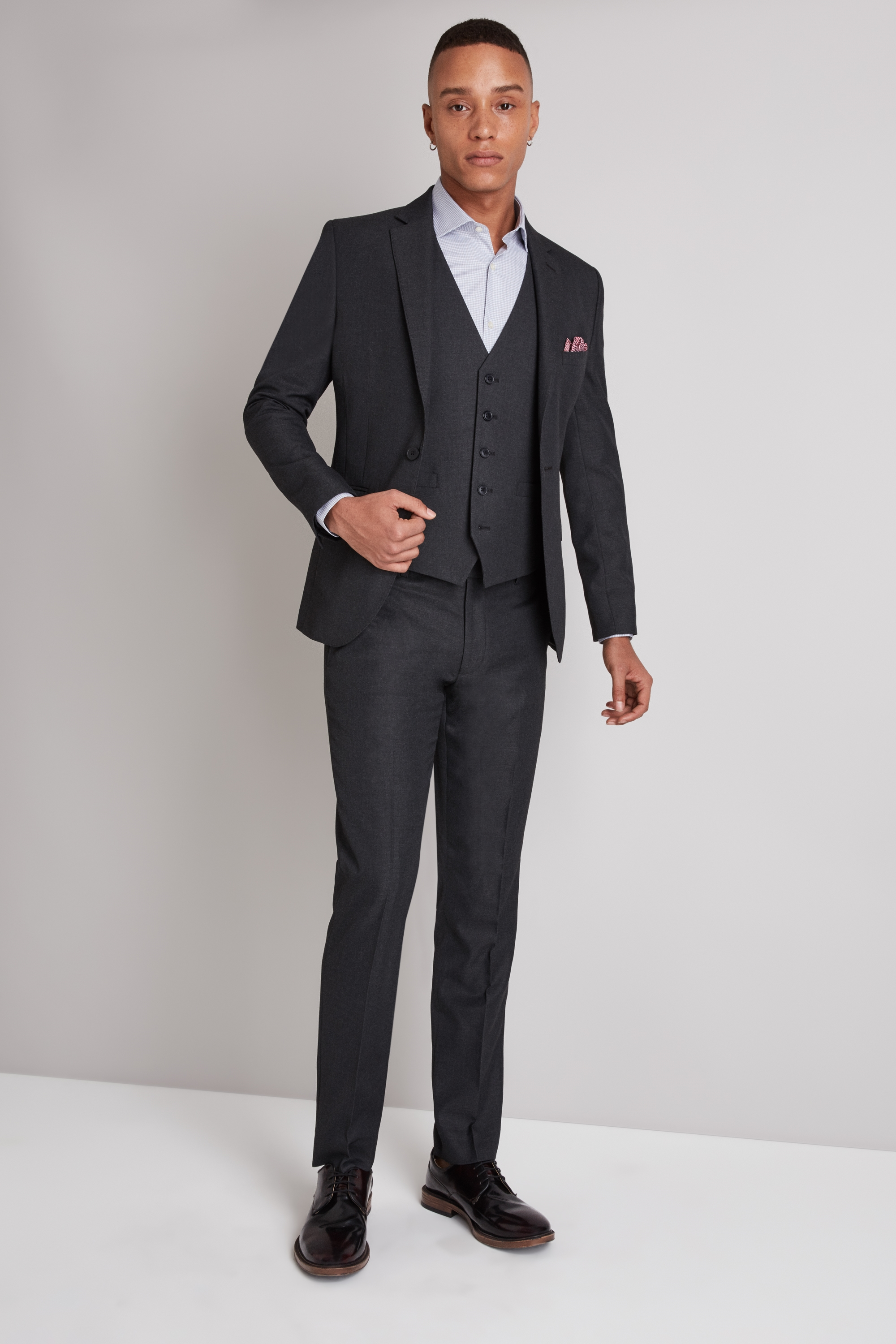 London Skinny Fit Charcoal Jacket